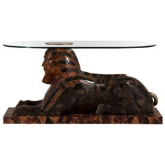 Maitland-Smith Exotic Sphinx Sculptural Table, 1970s