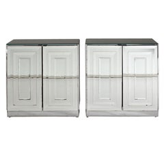 Pair of 1970s Mirrored Cabinets