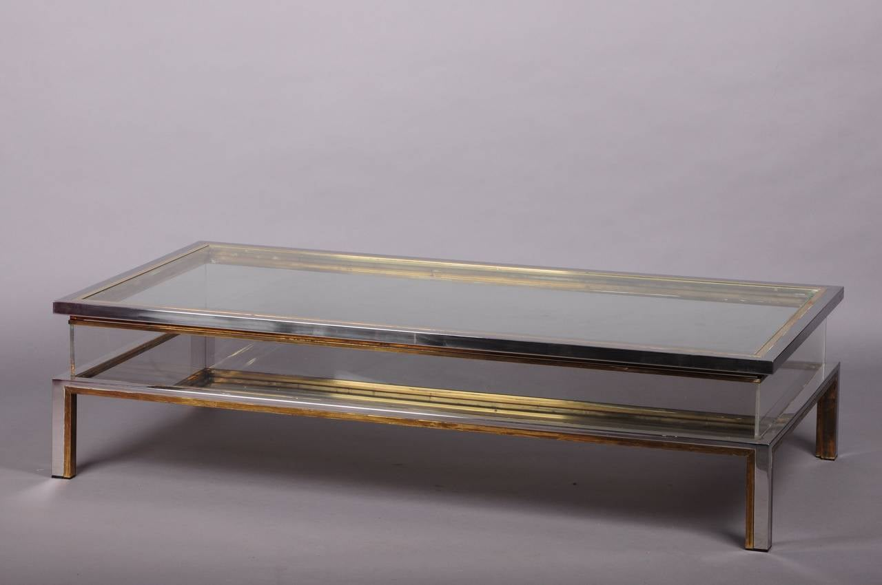 Big Coffee Table In The Style Of Willy Rizzo At 1stdibs