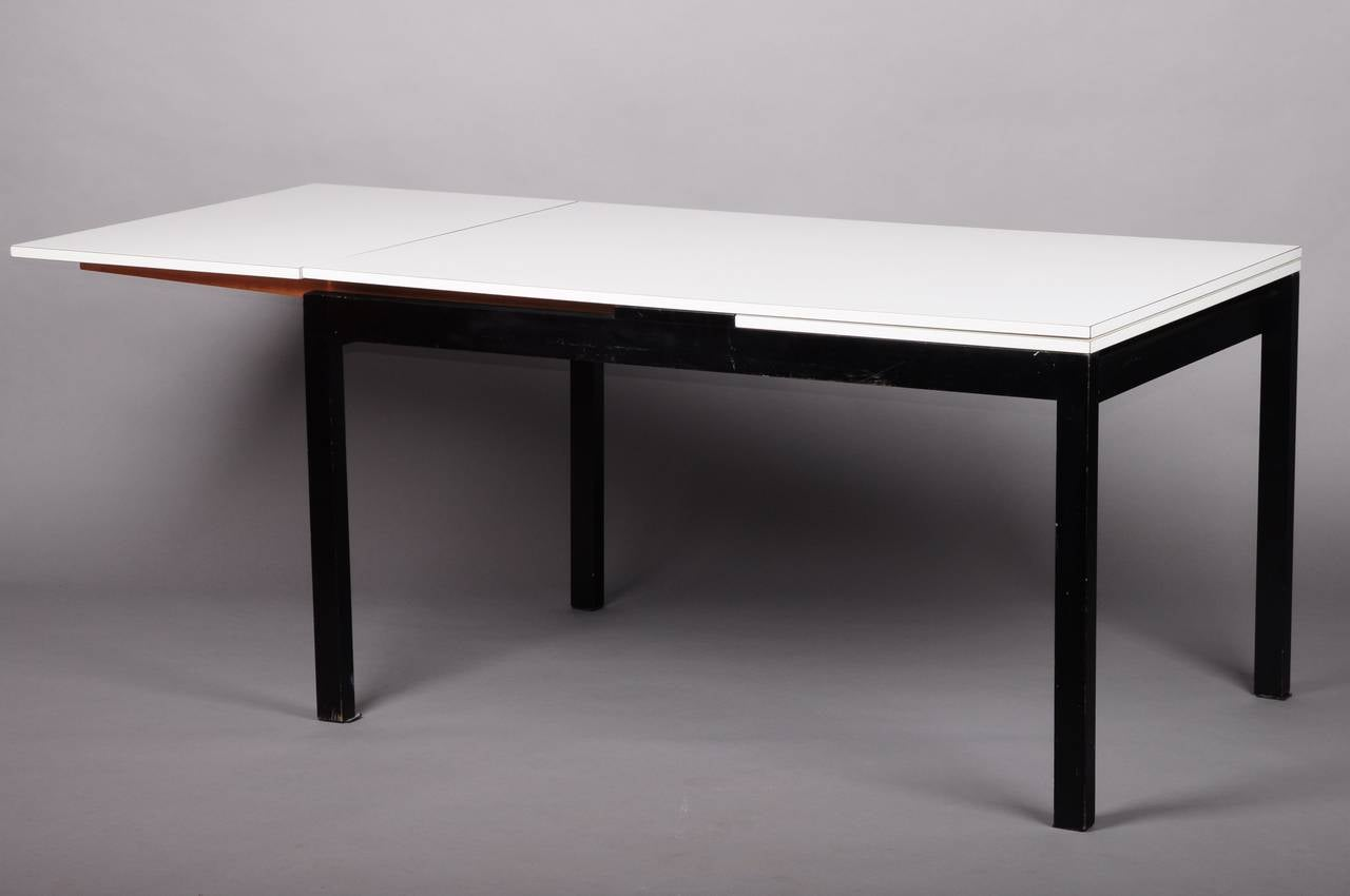 Extensible willy guhl dining room table at 1stdibs for Dining table extensible