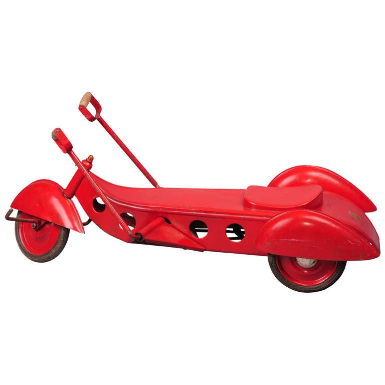 Steel tricycle toy at 1stdibs