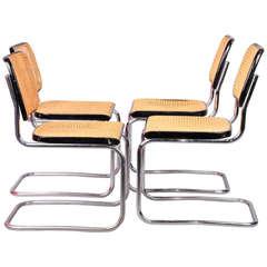 Four Marcel Breuer B32 Chairs