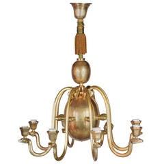 French Art Deco Snake Chandelier