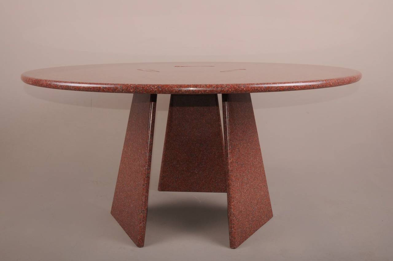 Big Asolo Dining Table by Angelo Mangiarotti in a Red  : DSC0134l from www.1stdibs.com size 1280 x 850 jpeg 49kB