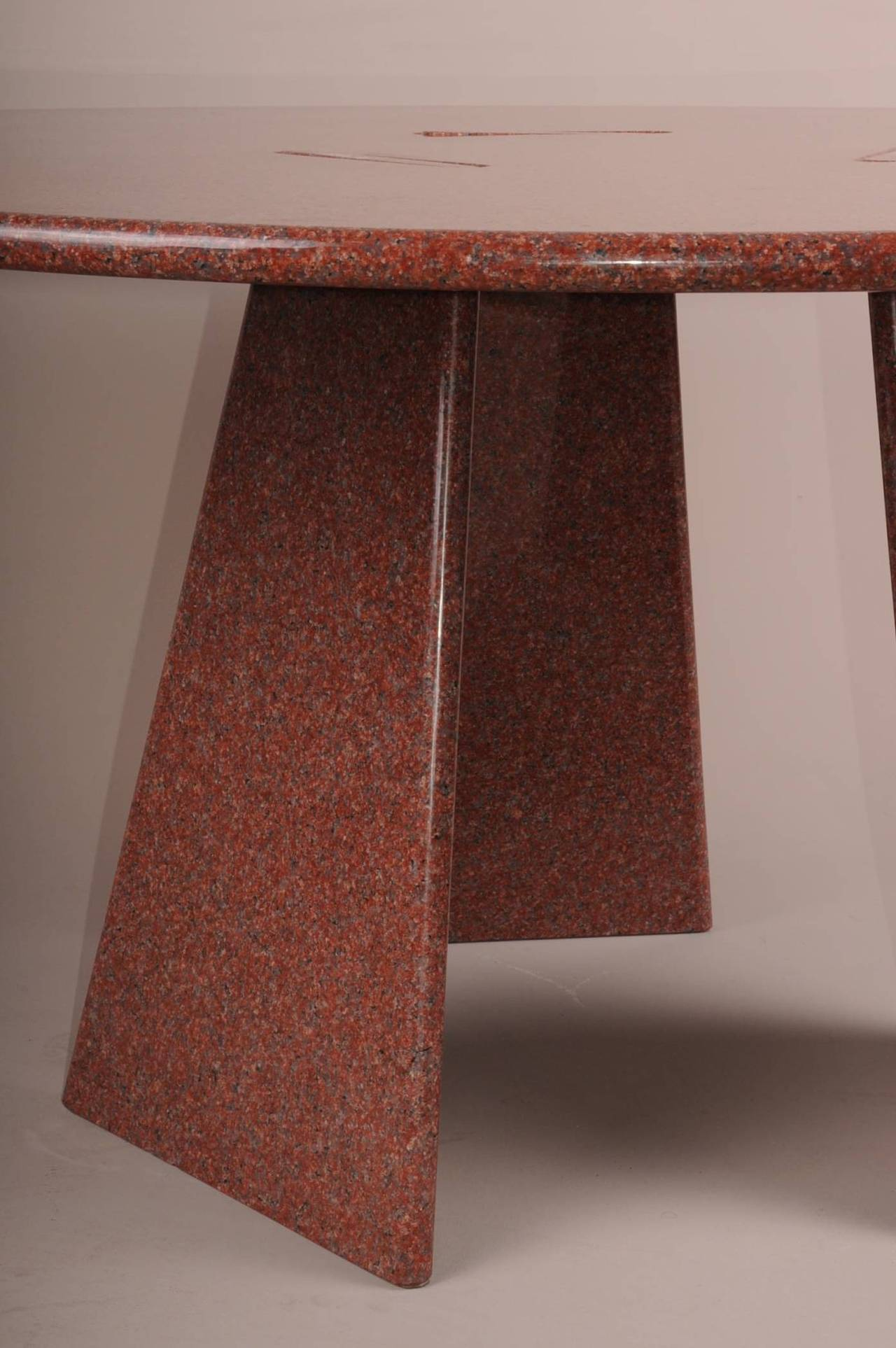 Big Asolo Dining Table by Angelo Mangiarotti in a Red  : DSC0144l from www.1stdibs.com size 1280 x 1926 jpeg 179kB