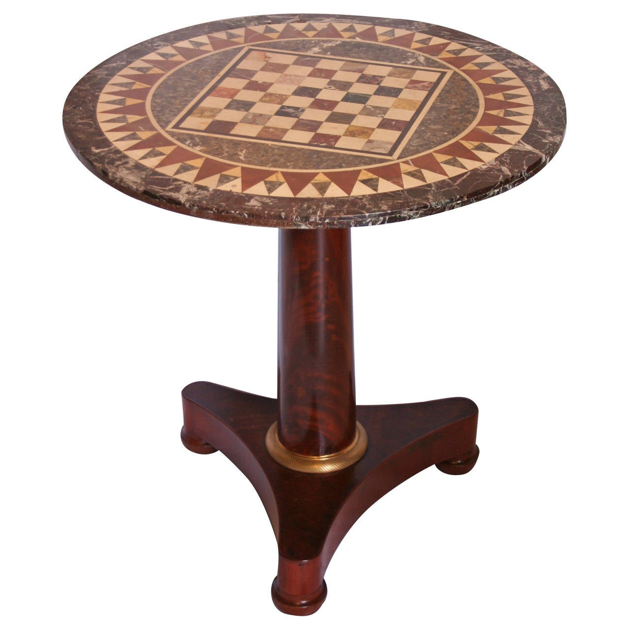 Marble Inlay Table Tops : Small first empire table with inlaid marble top at stdibs