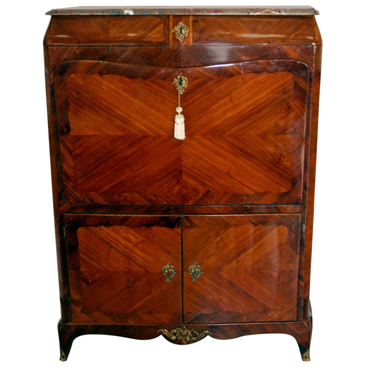 fantastic french secretaire louis xv at 1stdibs. Black Bedroom Furniture Sets. Home Design Ideas