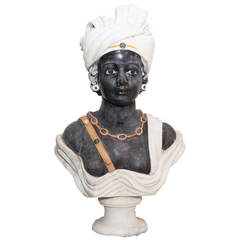 19th Century Italian Marble Bust Representing Odalisque