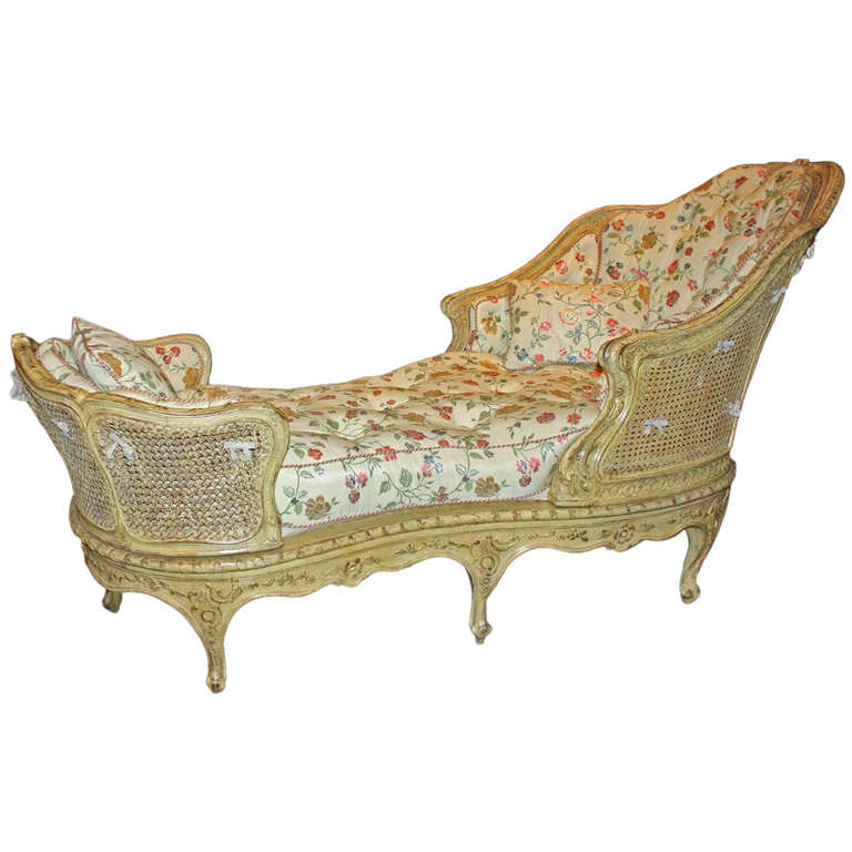 louis xv beechwood chaise longue at 1stdibs. Black Bedroom Furniture Sets. Home Design Ideas