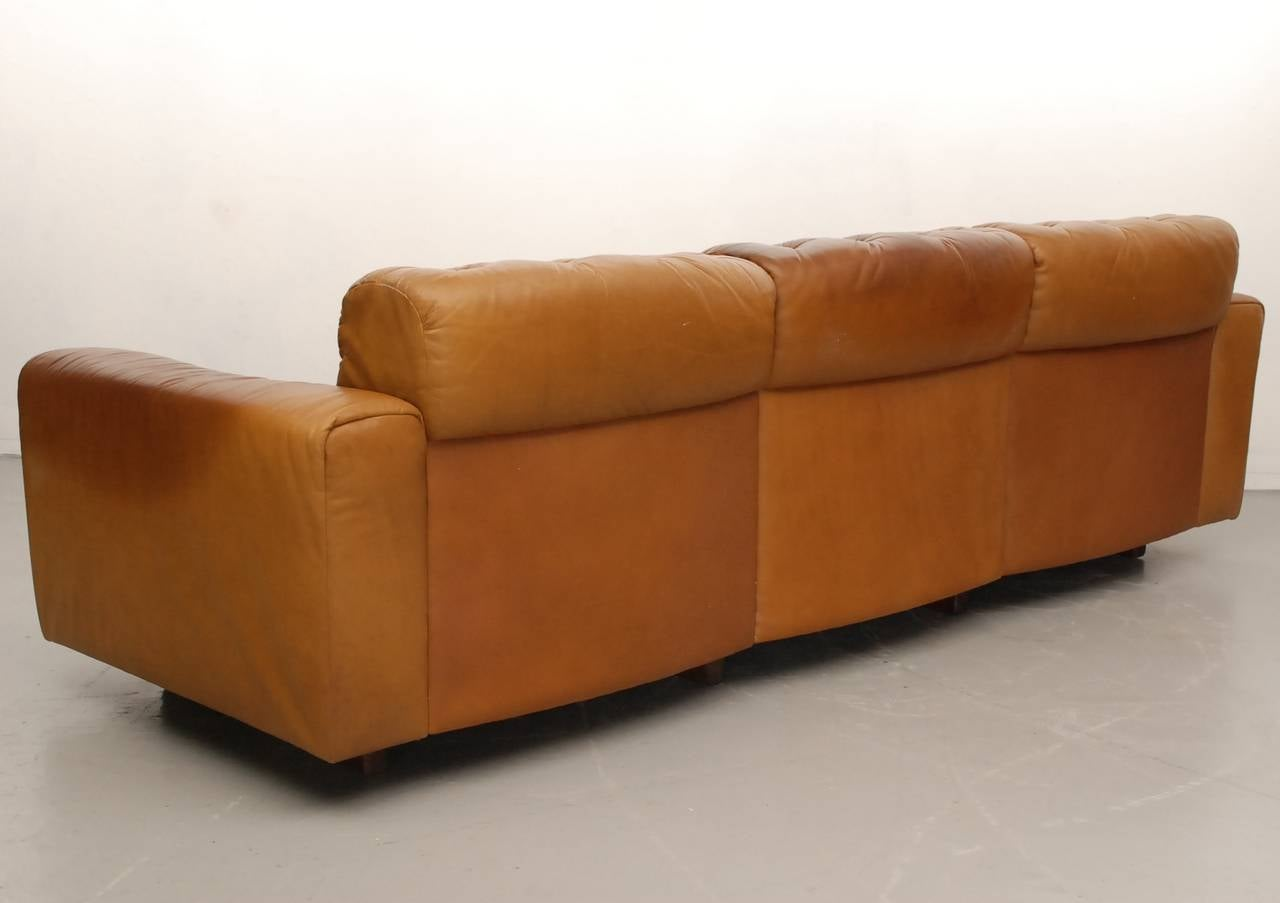 De Sede Ds40 Three Seat Sofa In Natural Leather Incl