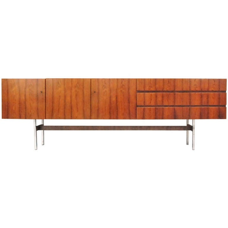 musterring sideboard in rio palissander at 1stdibs