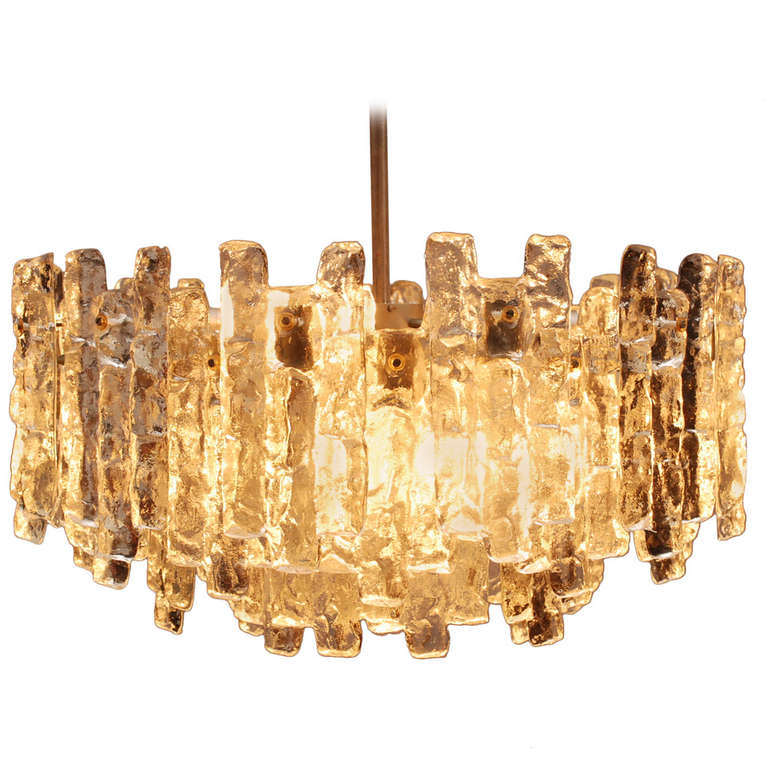 Superb Kalmar Chandelier With Ice Glass 36 Pieces At 1stdibs