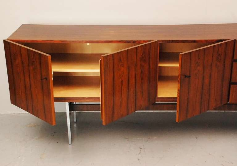 musterring sideboard in rio palissander at 1stdibs. Black Bedroom Furniture Sets. Home Design Ideas