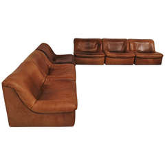 Beautiful De Sede DS-46 Lounging Set in Thick Buffalo Leather