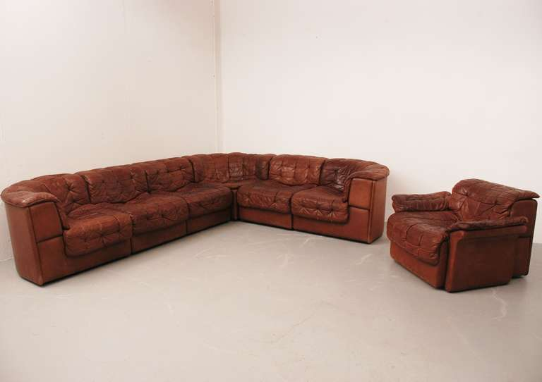 Superb De Sede Ds 11 Sofa In Cognac Colored Leather With