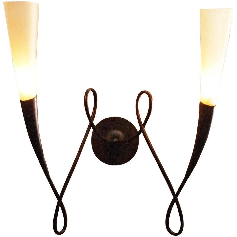 Terzani Wall Lamps With Murano Glass At 1stdibs