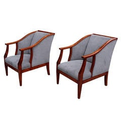 Pair of Swedish Art Deco Period Bergères