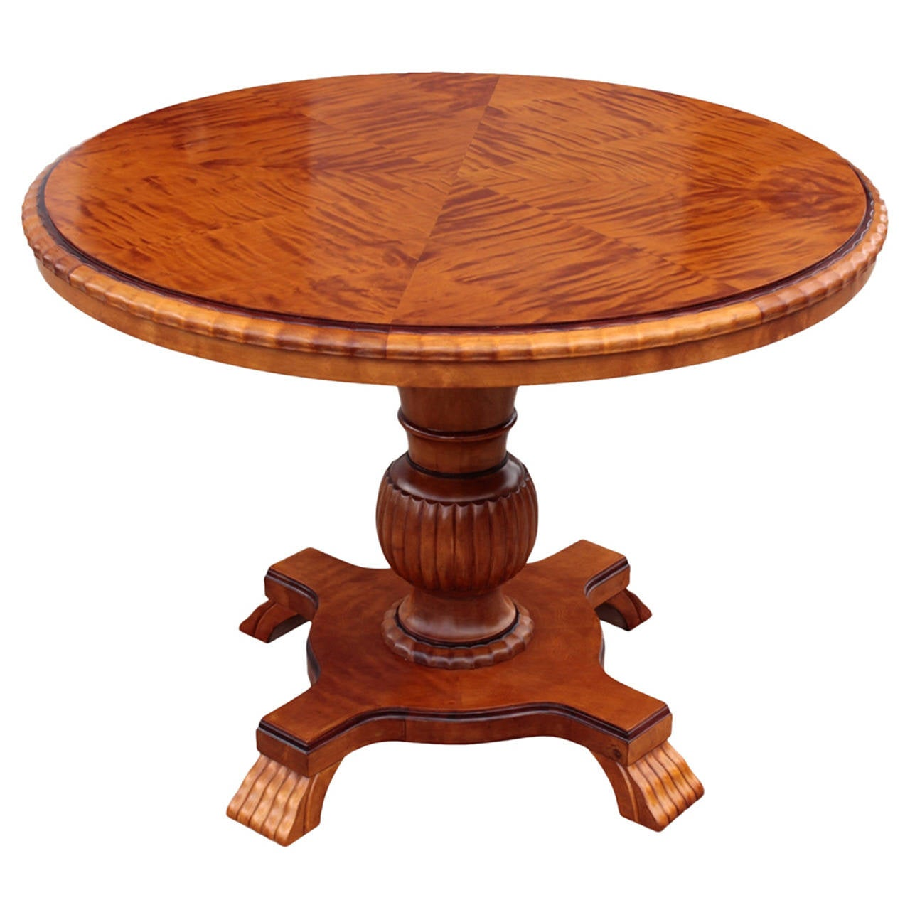 swedish art deco period round cocktail or coffee pedestal table at 1stdibs