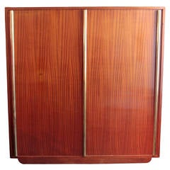 Large French Art Moderne Armoire by Andre Sornay