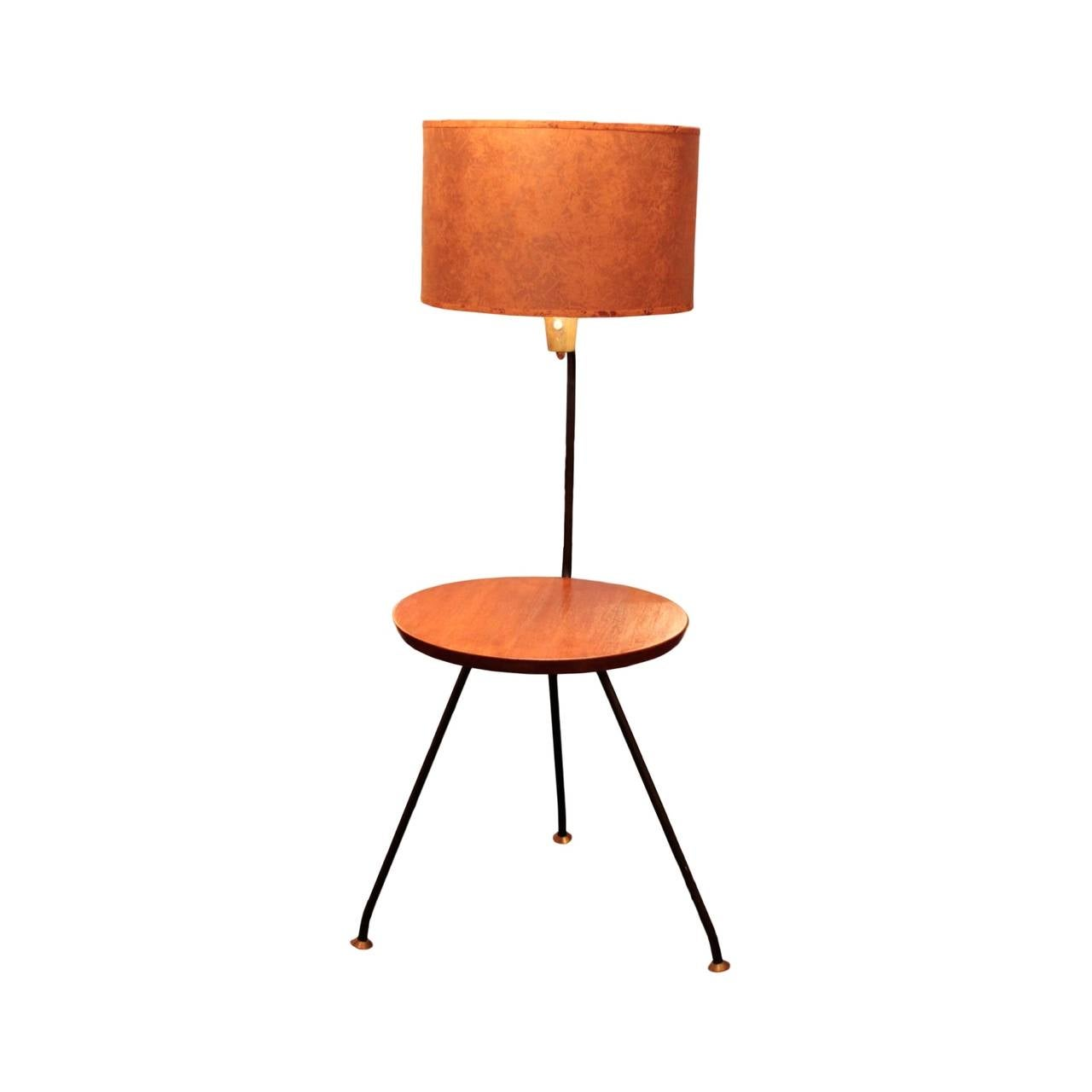 American Mid Century Modern Lamp With Table By Luther