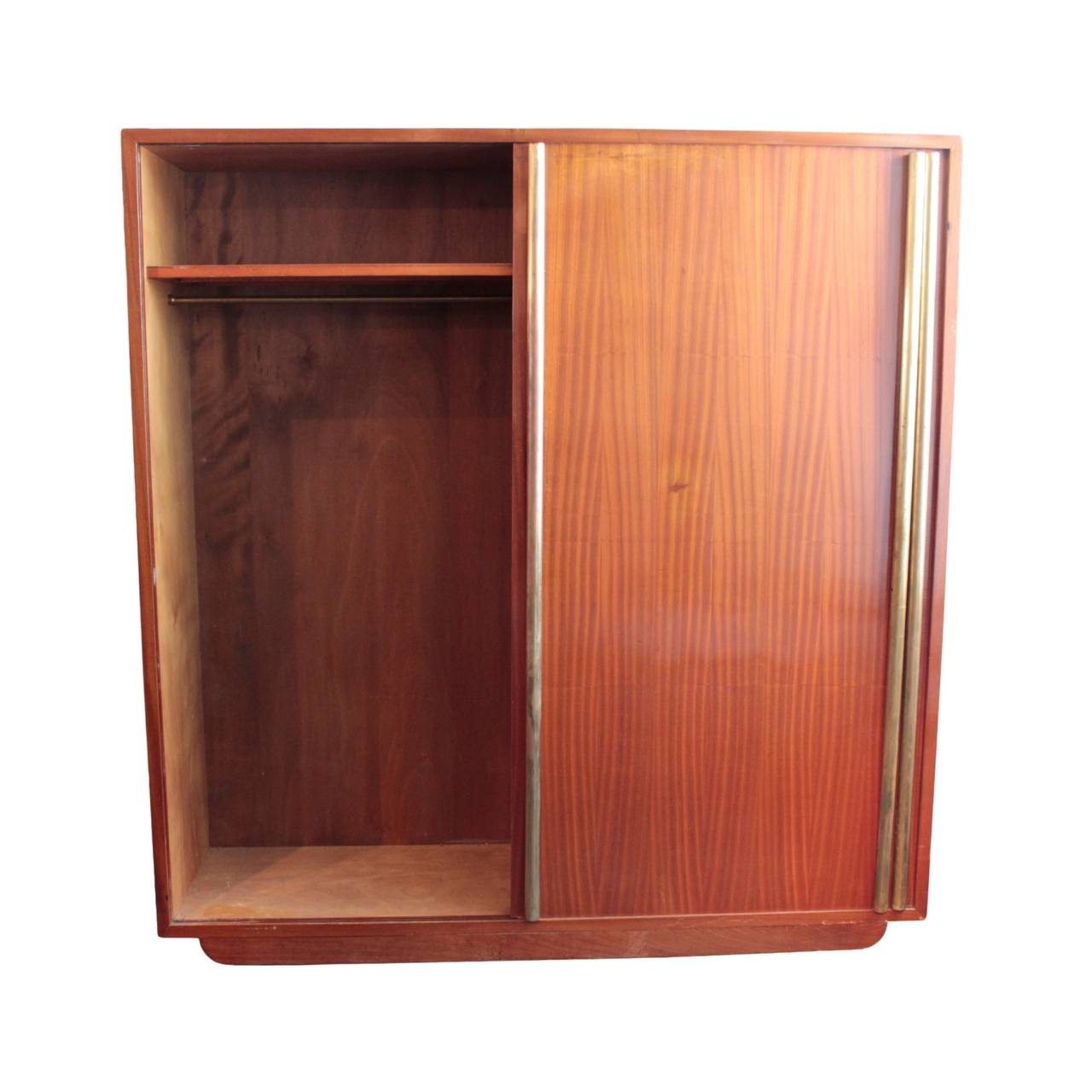 large french art moderne armoire by andre sornay for sale. Black Bedroom Furniture Sets. Home Design Ideas