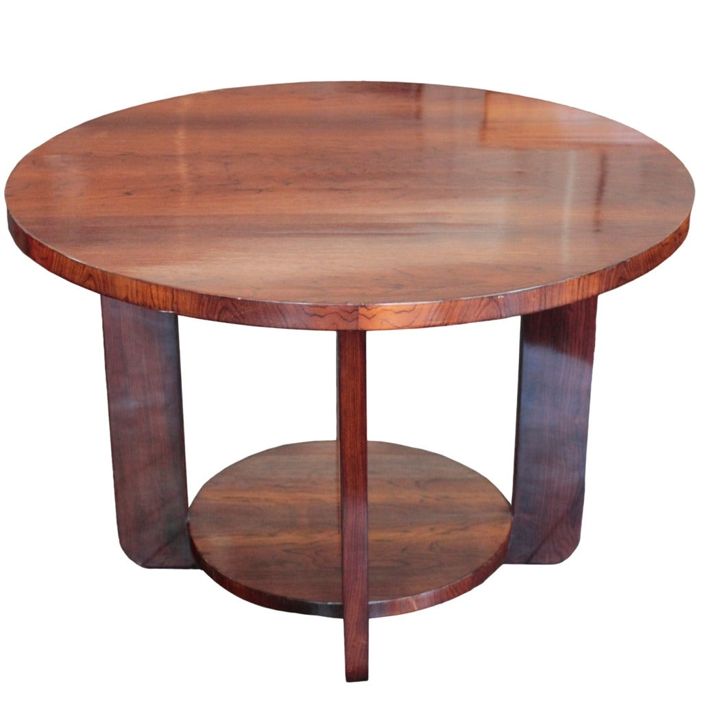 French art deco period round cocktail table by francisque for Cocktail tables for sale used