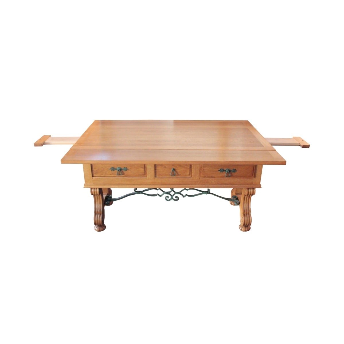 french 1940s banquet table with neo gothic motifs for sale at 1stdibs. Black Bedroom Furniture Sets. Home Design Ideas