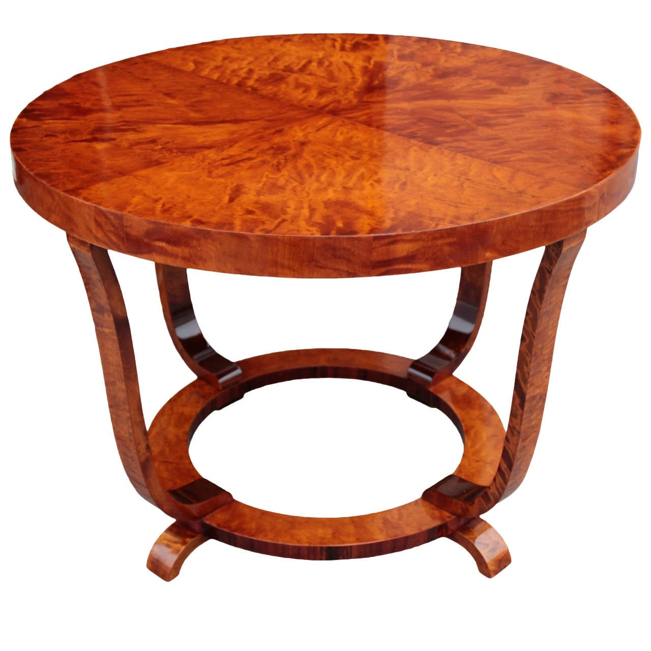 Swedish Art Deco Period Round Cocktail Or Coffee Table At 1stdibs