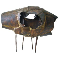 Richard Takao Okuda California Modernist Patchwork Metal Sculpture
