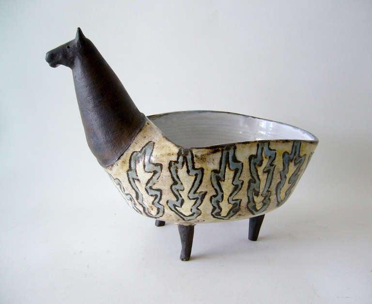 1960s Vallauris France Ceramic Llama Planter At 1stdibs