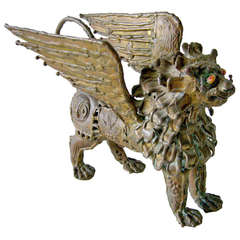 Pal Kepenyes Bronze Winged Griffin Sculpture