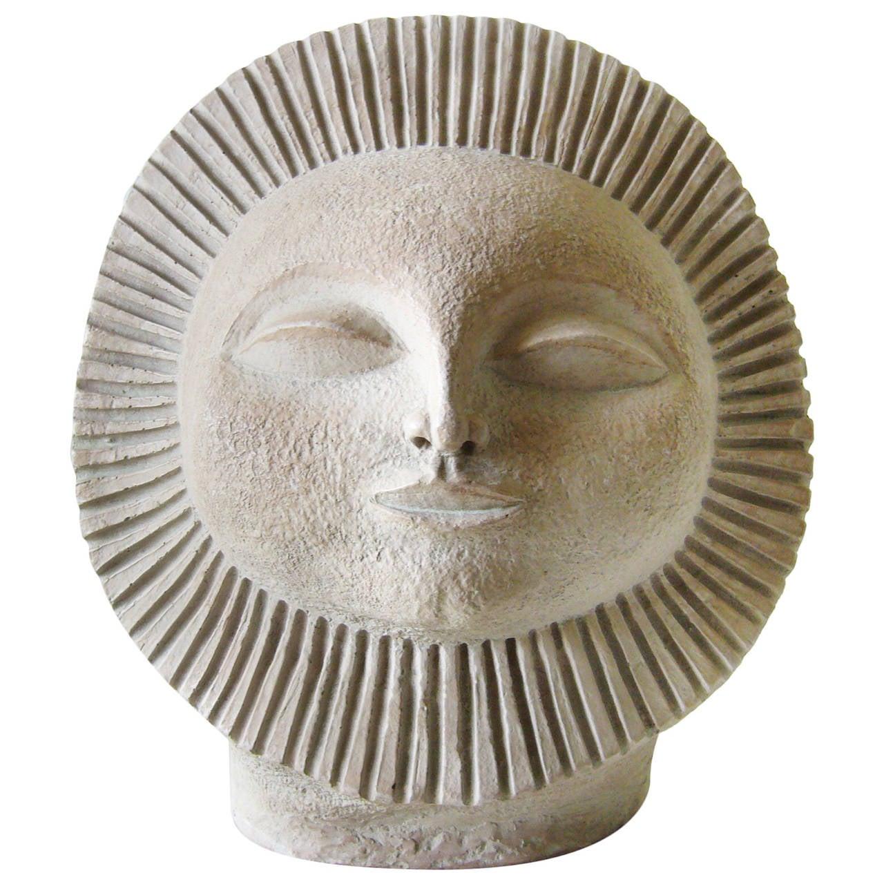 Paul Bellardo For Austin Sun Face Sculpture