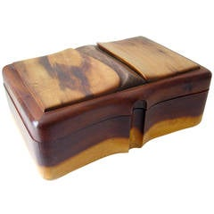 David French Wood Jewelry Box
