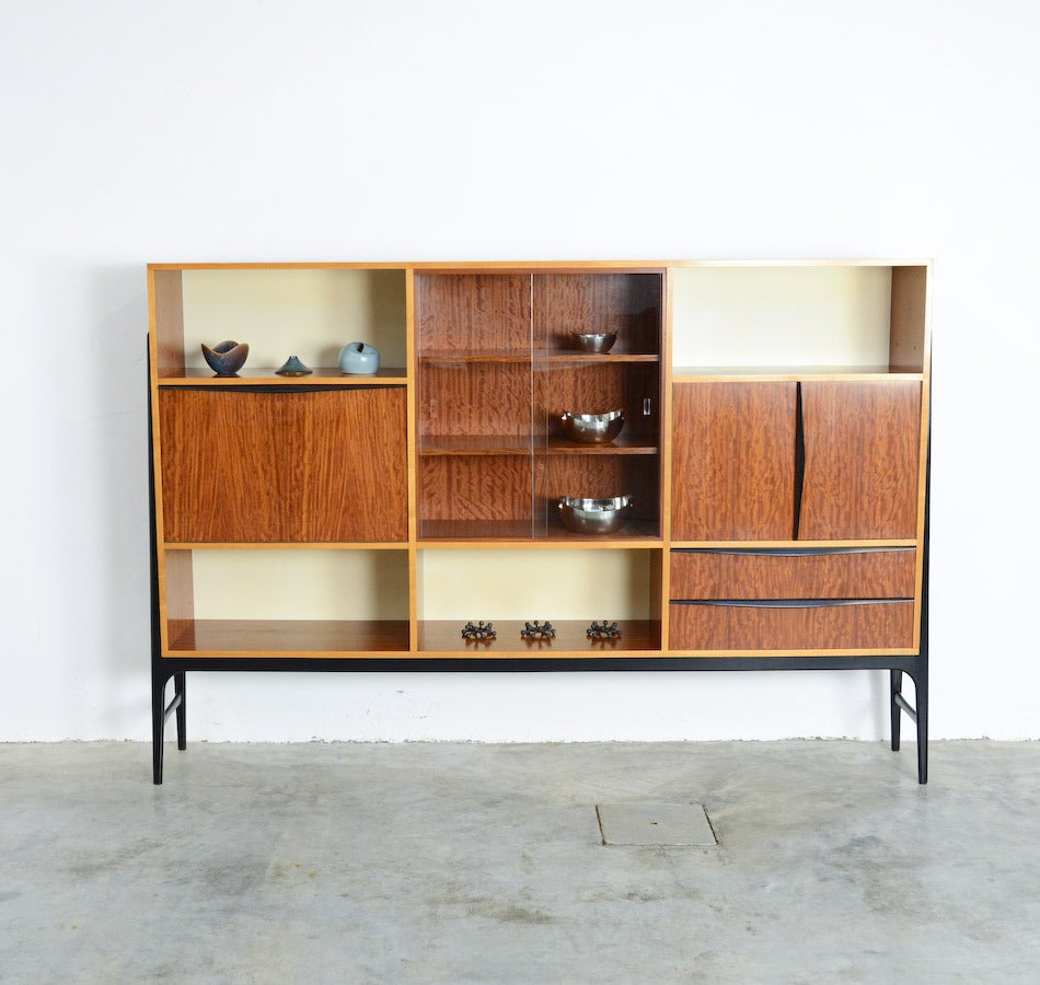 Wide Bar Cabinet by Alfred Hendrickx for Belform, 1958 at 1stdibs