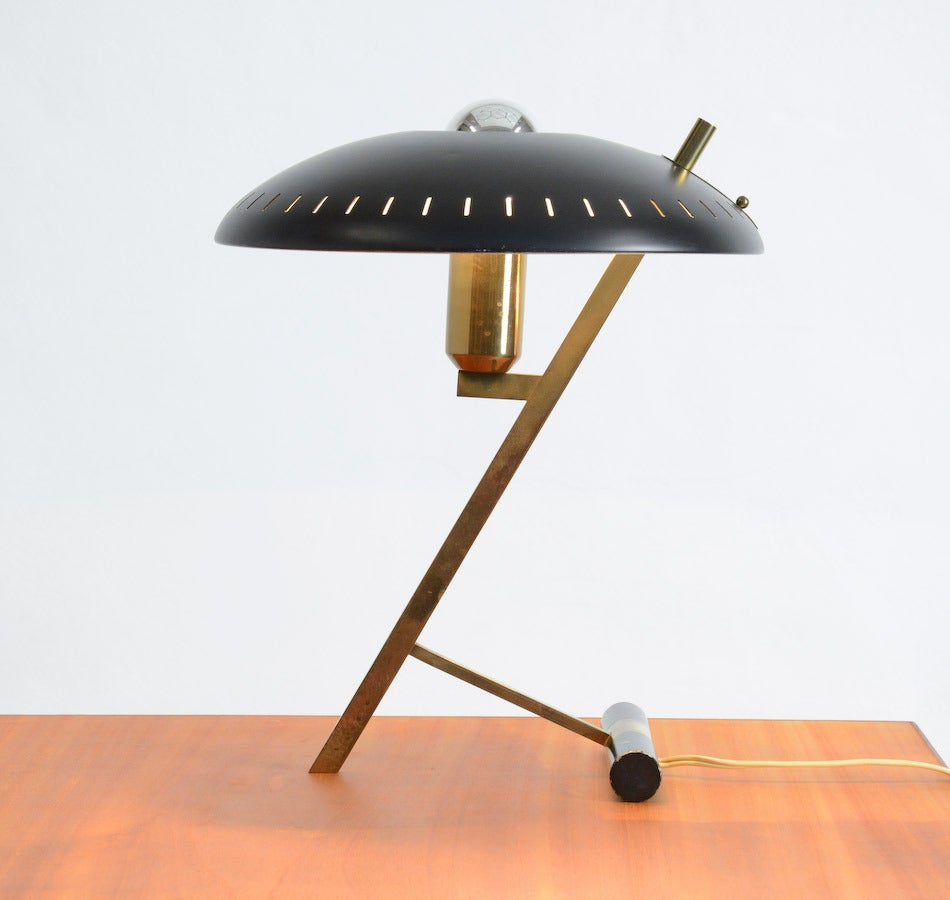 Mid-Century Modern Desk Lamp by Louis Kalff for Philips, 1955. For Sale