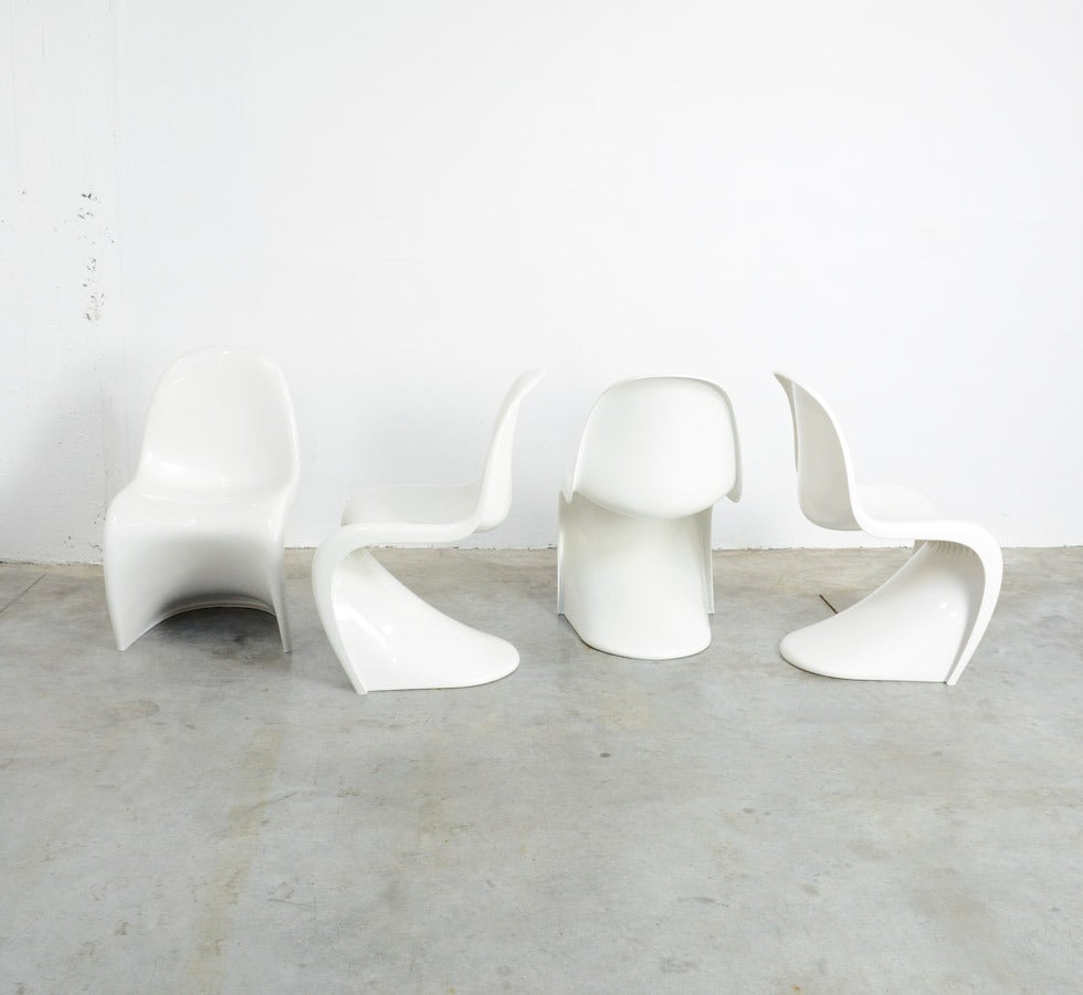 Set Of 4 Stackable S Chairs By Verner Panton For Herman Miller, 1973 2