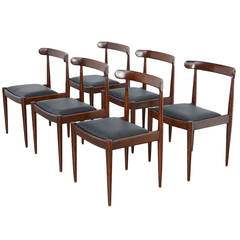 Set of Six Dining Chairs by Alfred Hendrickx for Belform