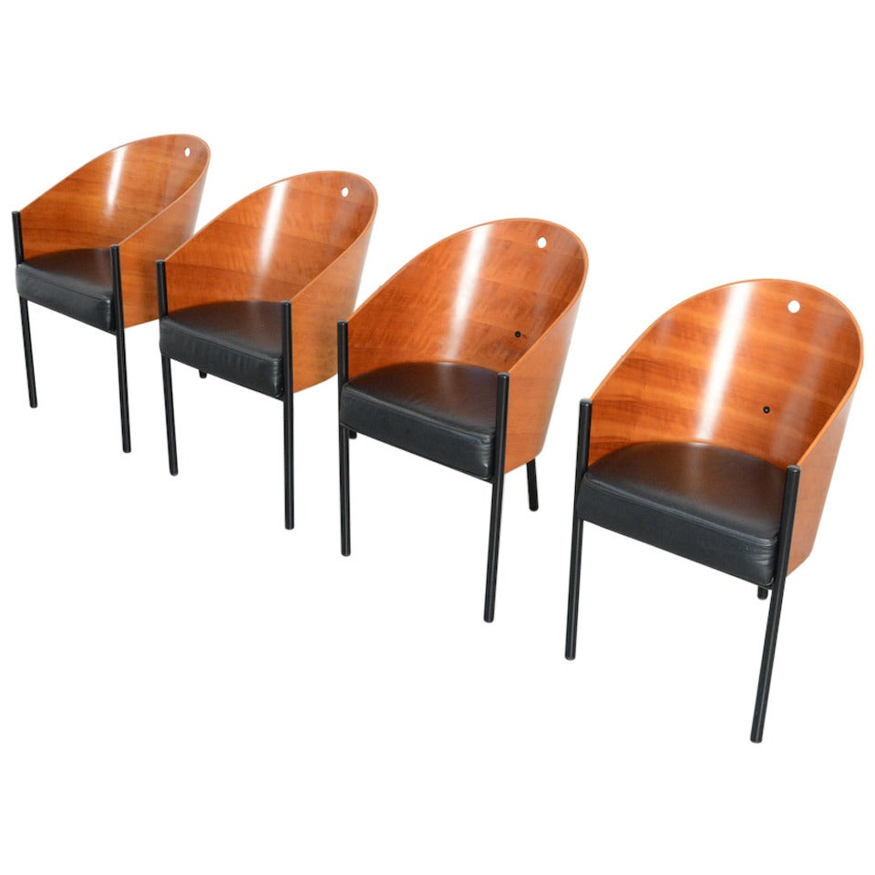 set of four costes chairs by philippe starck for driade. Black Bedroom Furniture Sets. Home Design Ideas