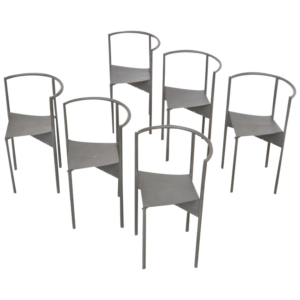 Set of six wendy wright chairs by philippe starck by disform at 1stdibs - Chaises philippe starck ...