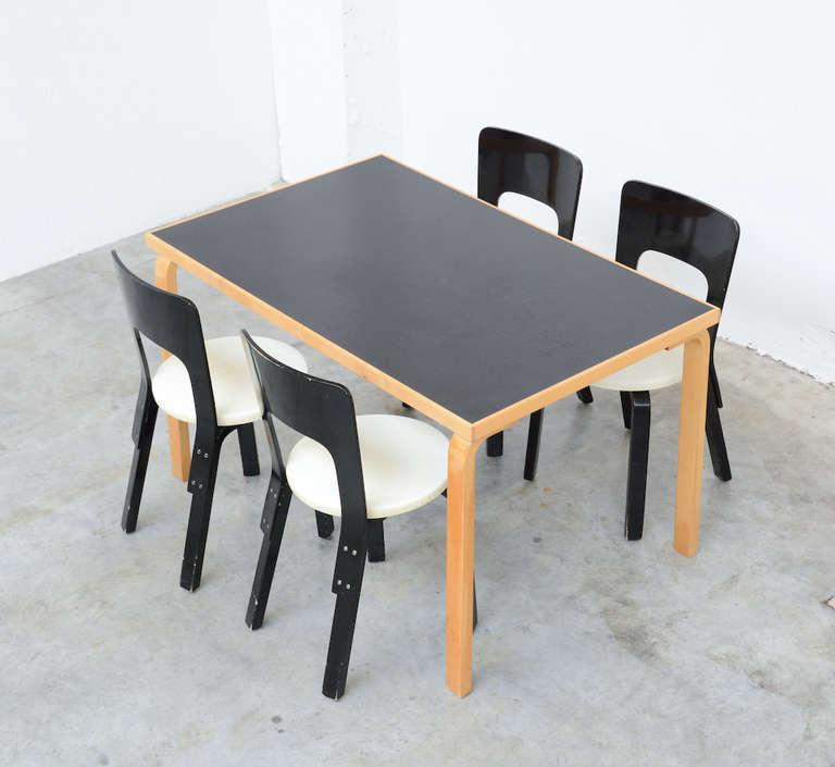 dining table 80a by alvar aalto for artek at 1stdibs. Black Bedroom Furniture Sets. Home Design Ideas