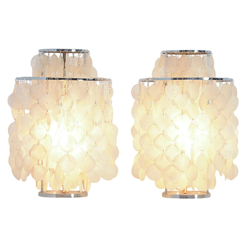 Pair Of Table Lamps Fun 2tm By Verner Panton For Lueber At