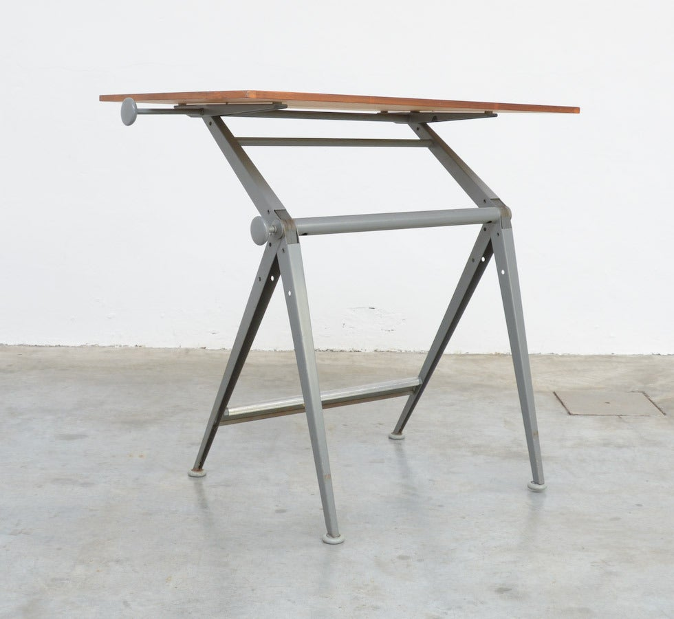 1964 Rare Friso Kramer Coffee Table For Ahrend De Cirkel: Industial Drafting Table By Friso Kramer And Wim Rietveld