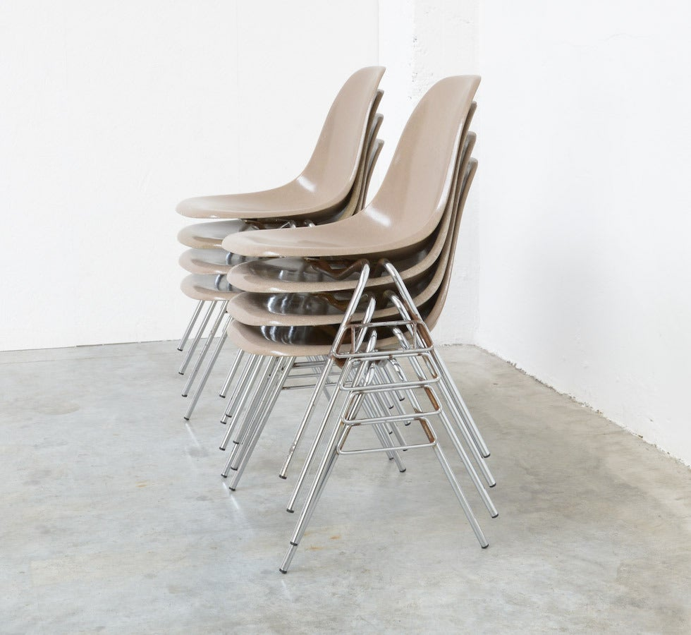 Fiberglass Side Chairs by Charles and Ray Eames for Herman Miller 2