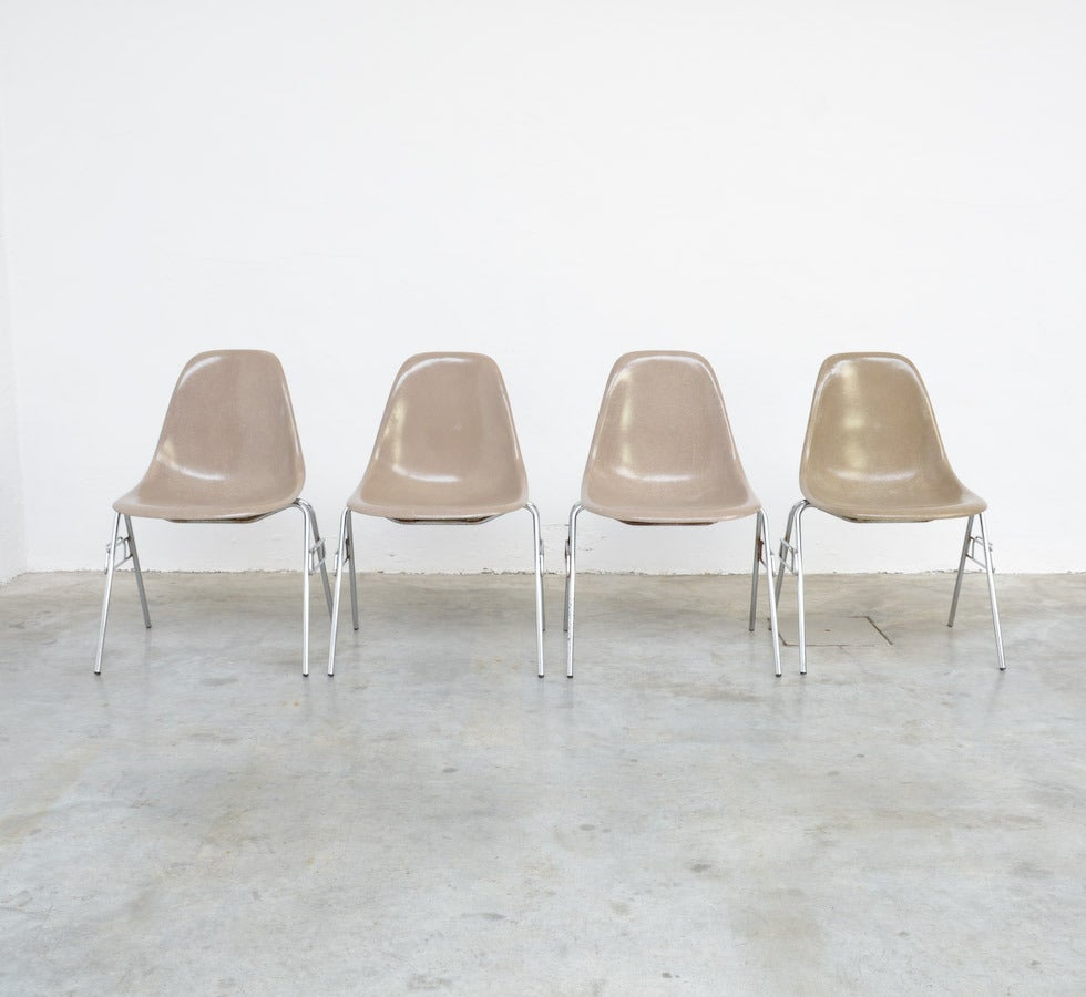Fiberglass Side Chairs by Charles and Ray Eames for Herman Miller 3