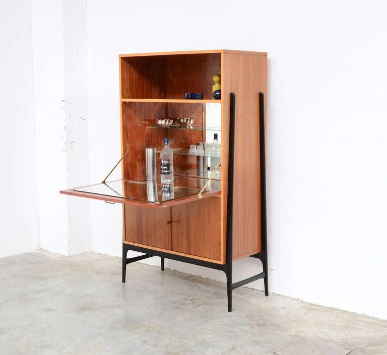 high bar cabinet by a hendrickx for belform at 1stdibs. Black Bedroom Furniture Sets. Home Design Ideas