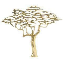 1970s Brass Bonsai Tree Wall Sculpture