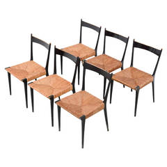 Set of Six Chairs by A. Hendrickx for Belform