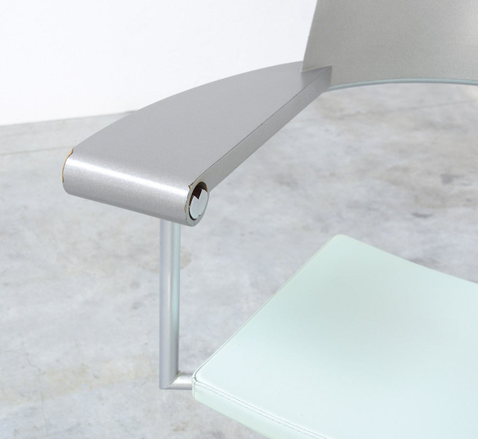 Metal Exclusive Chair Techno by Philippe Starck for Presence Paris, L'Oréal For Sale