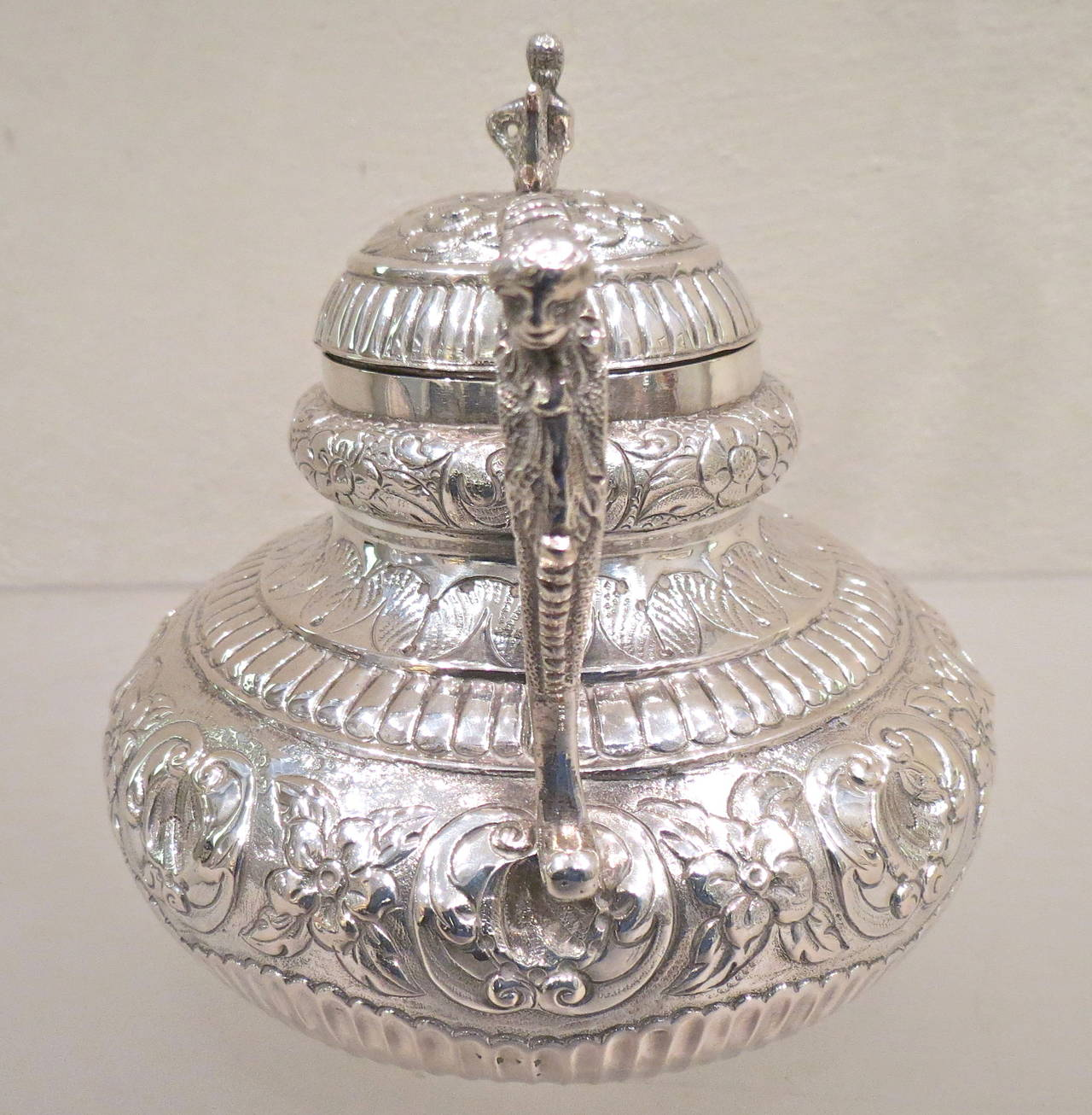 Mid 18th Century Antique Sterling 925 Silver Dutch Teapot For Sale At 1stdibs