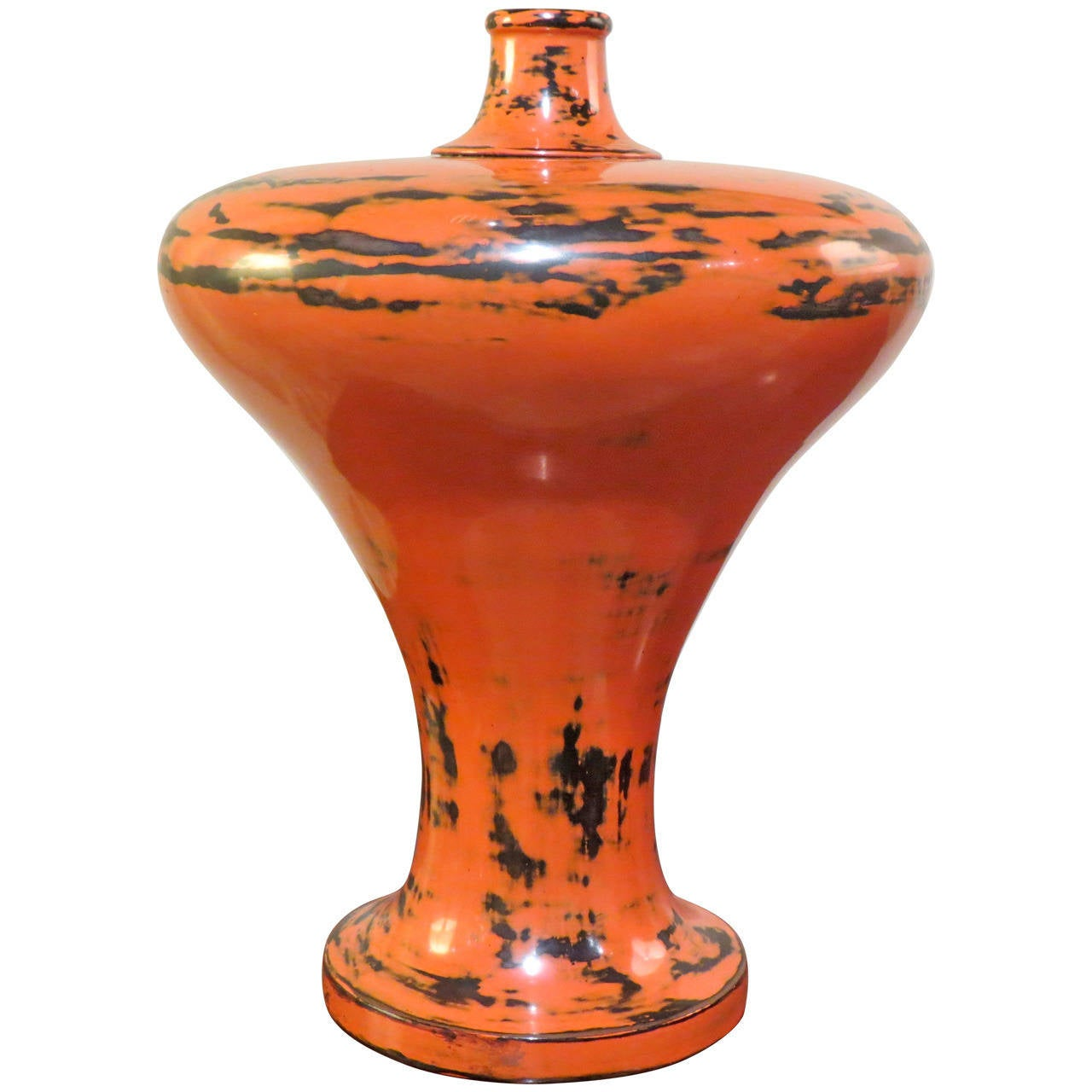 Japanese, 19th Century Lacquer Vase For Sale